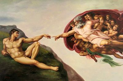 [The Creation of Adam]